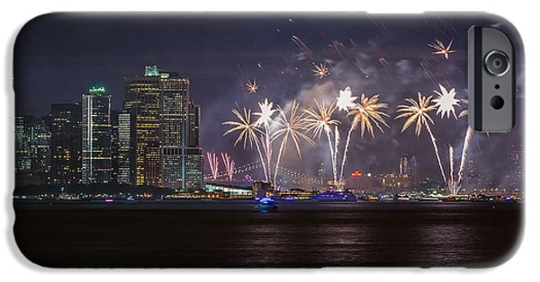 4th July Digital Art iPhone Cases - Macys 4th of July Fireworks  iPhone Case by Eduard Moldoveanu