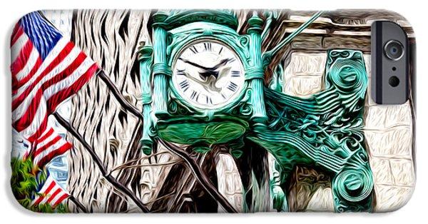 Macy iPhone Cases - Macys Clock in Chicago iPhone Case by Paul Velgos