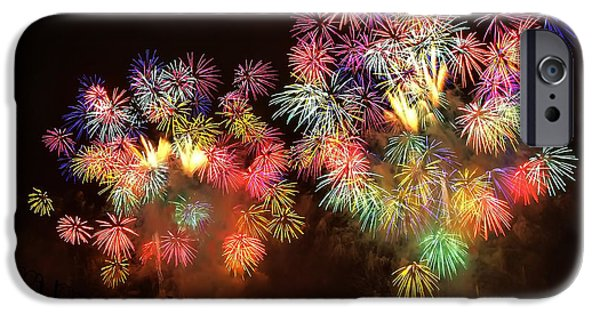 Pyrotechnics iPhone Cases - Macys July 4th Fireworks New York City  iPhone Case by Nishanth Gopinathan