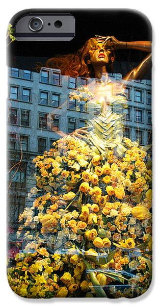Macy iPhone Cases - Fantasy Yellow Rose Woman iPhone Case by ArtyZen Studios - ArtyZen Home