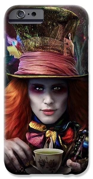 Mad Hatter iPhone Cases - Mad As a Hatter iPhone Case by Omri Koresh