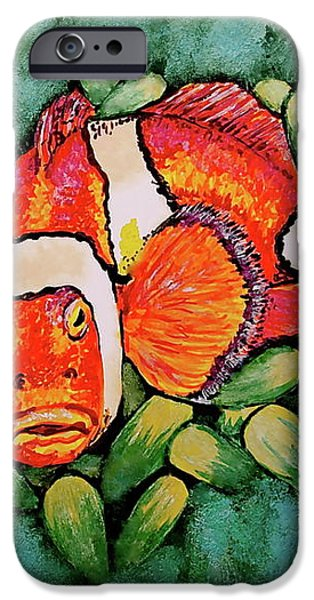 Mad Clown iPhone Case by Linda Simon