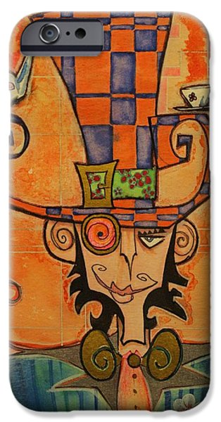 Mad Hatter iPhone Case by Ellen Henneke