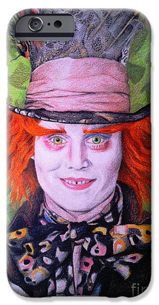 Mad Hatter iPhone Cases - Mad Hatter iPhone Case by Jessica Zint