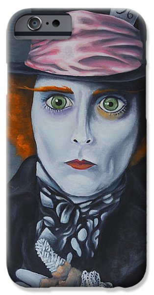 Mad Hatter iPhone Case by Travis Radcliffe
