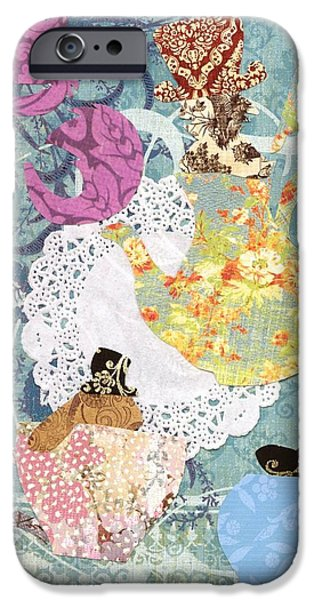 Alice In Wonderland iPhone Cases - Mad Hatters Tea Party  iPhone Case by Savannah Bertozzi