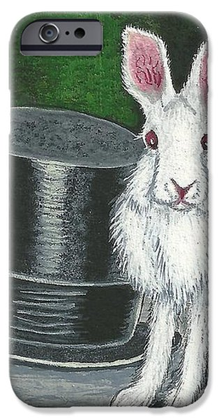 Mad March Hare -- Now You See How It Feels iPhone Case by Sherry Goeben