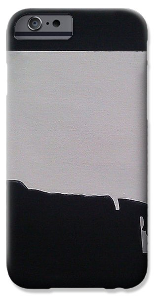 Mad Men in Silhouette iPhone Case by John Lyes