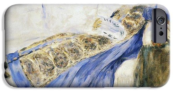 Auguste iPhone Cases - Madame Monet Reading iPhone Case by Pierre-Auguste Renoir