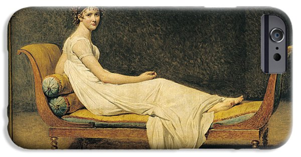 Recently Sold -  - David iPhone Cases - Madame Recamier iPhone Case by Jacques Louis David