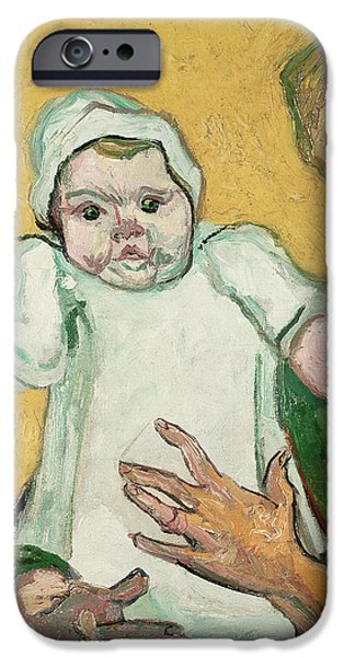 Child iPhone Cases - Madame Roulin and her baby iPhone Case by Vincent Van Gogh