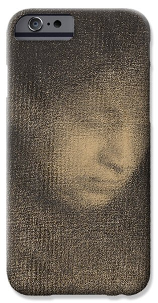 Seurat iPhone Cases - Madame Seurat the Artists Mother iPhone Case by Georges Seurat
