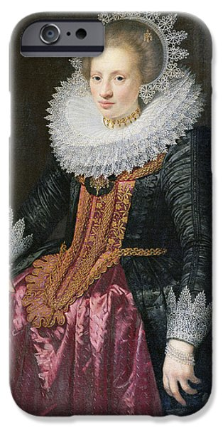Madame iPhone Cases - Madame Vrijdags van Vollehoven iPhone Case by Jan Anthonisz van Ravestyn