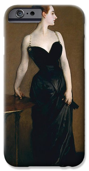 Concept Paintings iPhone Cases - Madame X iPhone Case by John Sargent