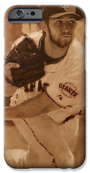 World Series Paintings iPhone Cases - Madbum 2012 iPhone Case by Darren Kerr