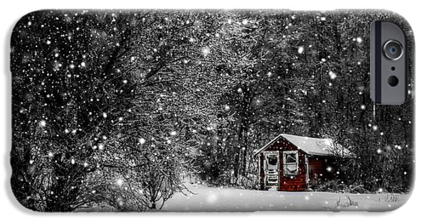 Winter In Maine iPhone Cases - Made in Maine Winter  iPhone Case by Brenda Giasson