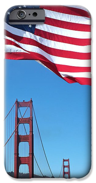 Flag Pyrography iPhone Cases - Made in the U.S.A. iPhone Case by DUG Harpster