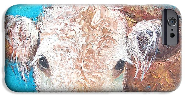 Breeder iPhone Cases - Madelyn the Cow iPhone Case by Jan Matson