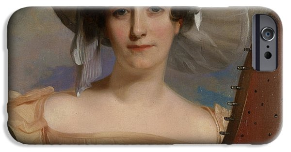 Portraits Female Paintings iPhone Cases - Mademoiselle Ade Sigoigne iPhone Case by Thomas Sully