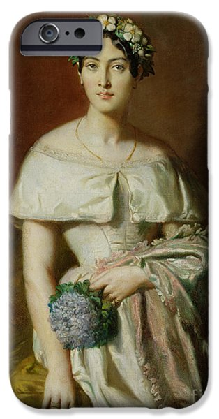 Three-quarter Length iPhone Cases - Mademoiselle Marie Therese de Cabarrus iPhone Case by Theodore Chasseriau