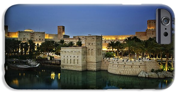 Ocean Pyrography iPhone Cases - Madinat Jumeirah in Dubai iPhone Case by Jelena Jovanovic