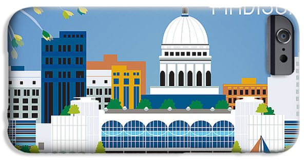 Architecture Digital iPhone Cases - Madison iPhone Case by Karen Young