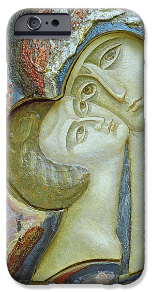 Madonna iPhone Cases - Madonna and Child iPhone Case by Alek Rapoport