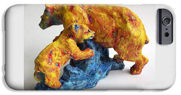 Animal Sculptures iPhone Cases - Madonna and Child iPhone Case by Derrick Higgins