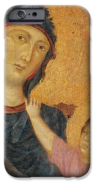 Madonna and Child Enthroned  iPhone Case by Cimabue