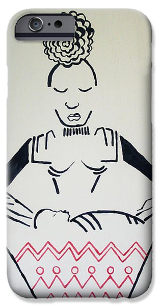 Pottery Ceramics iPhone Cases - Madonna and Child iPhone Case by Gloria Ssali