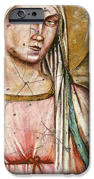 Madonna Del Parto - Study No. 1 iPhone Case by Steve Bogdanoff