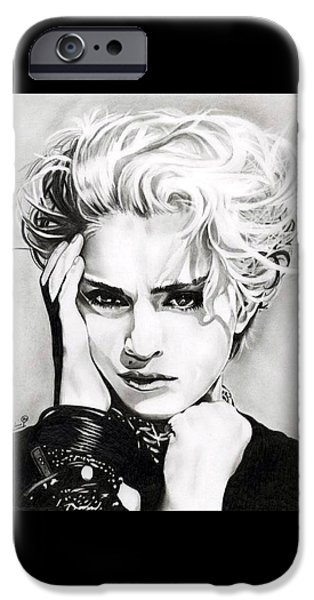 Ambition iPhone Cases - Madonna iPhone Case by Fred Larucci