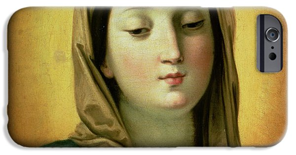 Virgin Mary iPhone Cases - Madonna iPhone Case by Guido Reni