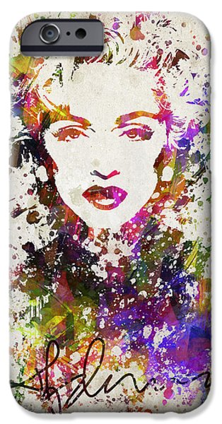 Madonna iPhone Cases - Madonna in Color iPhone Case by Aged Pixel