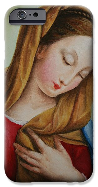Madonna iPhone Case by Marna Edwards Flavell