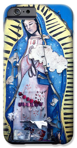 madonna painting iPhone Case by Mark Goebel
