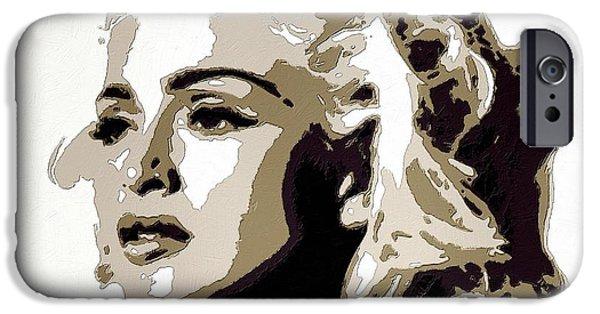 Madonna Digital Art iPhone Cases - Madonna Poster Art Portrait iPhone Case by Florian Rodarte