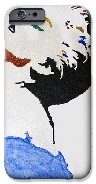 Business Paintings iPhone Cases - Madonna True Blue iPhone Case by Stormm Bradshaw