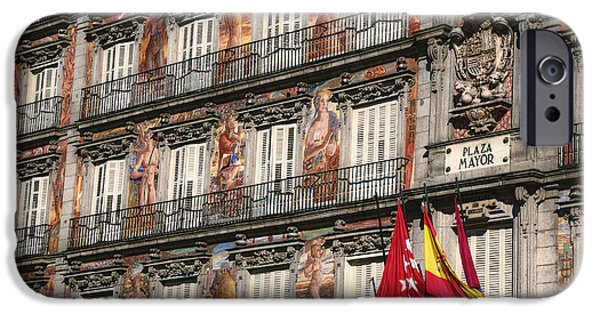 Balcony iPhone Cases - Madrid Murals iPhone Case by Joan Carroll