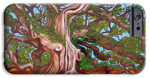 Strange iPhone Cases - Madusa Tree Searching for Treasure iPhone Case by Annette Jimerson