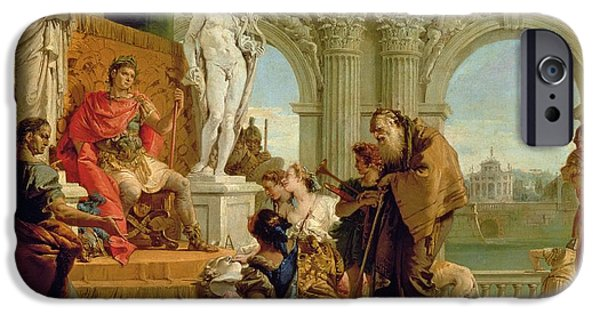 Auguste iPhone Cases - Maecenas Presenting the Liberal Arts to the Emperor Augustus iPhone Case by Giovanni Battista Tiepolo