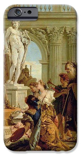 Maecenas Presenting the Liberal Arts to the Emperor Augustus iPhone Case by Giovanni Battista Tiepolo