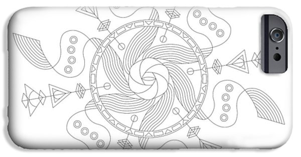 Hieroglyph iPhone Cases - Maelstrom iPhone Case by DB Artist