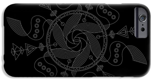 Hieroglyph iPhone Cases - Maelstrom Inverse iPhone Case by DB Artist
