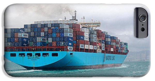 Recently Sold -  - Raining iPhone Cases - Maersk Kotka in Hong Kong iPhone Case by Charline Xia