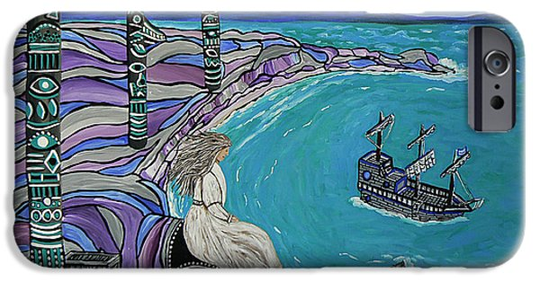 Canadian Culture Paintings iPhone Cases - Magdalen Island Explorers iPhone Case by Barbara St Jean