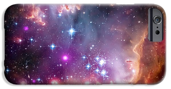 Nature Abstract iPhone Cases - Magellanic Cloud 3 iPhone Case by The  Vault - Jennifer Rondinelli Reilly