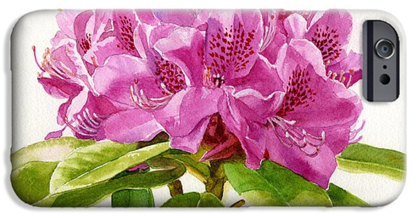 Botanical iPhone Cases - Magenta Colored Rhododendron Square Design iPhone Case by Sharon Freeman