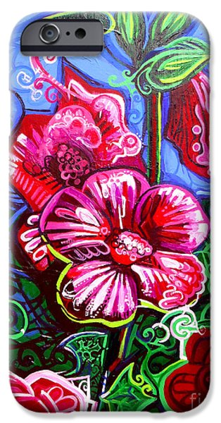 Esson iPhone Cases - Magenta Fleur Symphonic Zoo I iPhone Case by Genevieve Esson