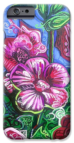 Recently Sold -  - Poetic iPhone Cases - Magenta Fluer Symphonic Zoo II iPhone Case by Genevieve Esson